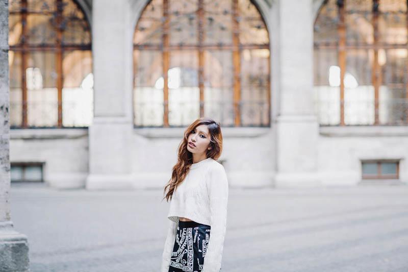 jupe noir court