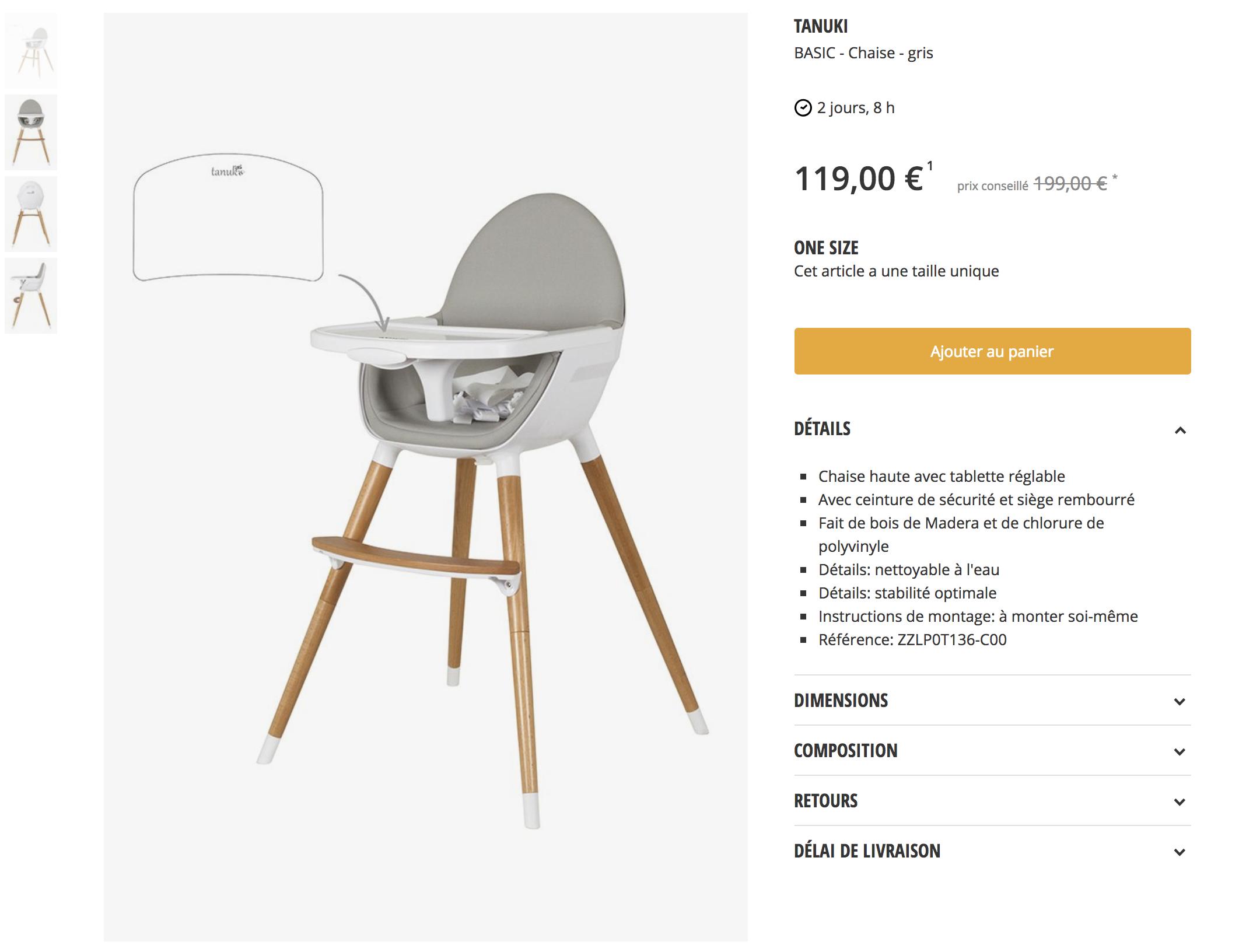 chaise-haute-zalando